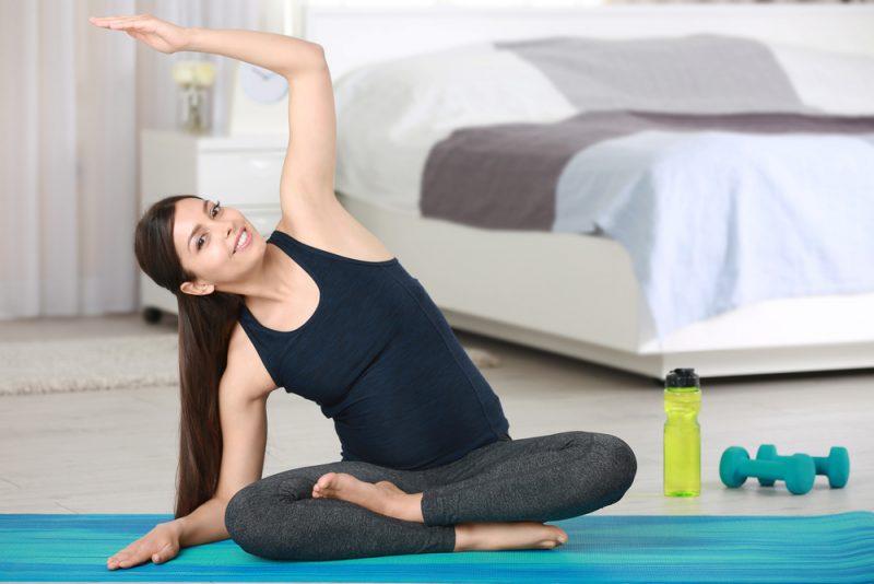 Parsva Sukhasana — Seated Side-Bend Pose