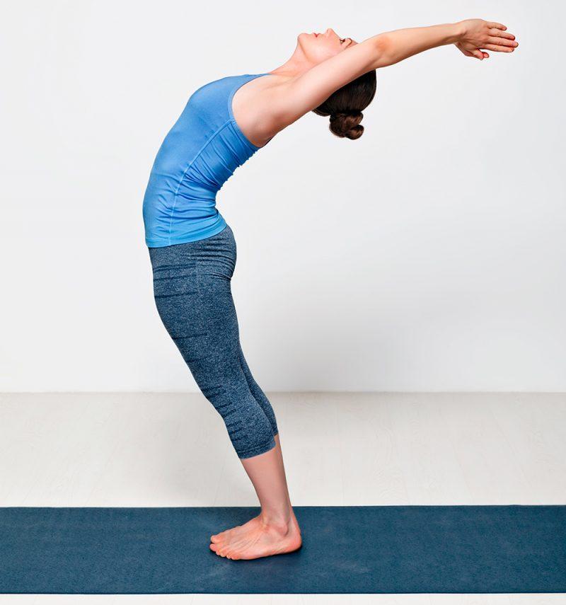 Anuvittasana — Standing Back Bend Pose