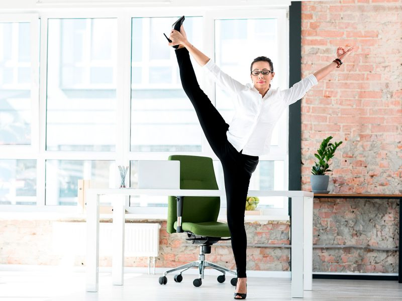 10-Minute Office Yoga At Your Desk