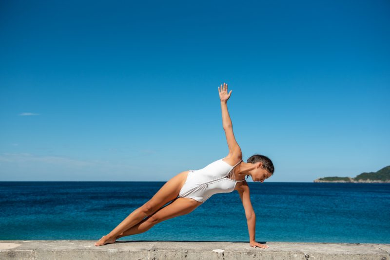 Stack Your Shoulders Over Your Wrist in Vasisthasana