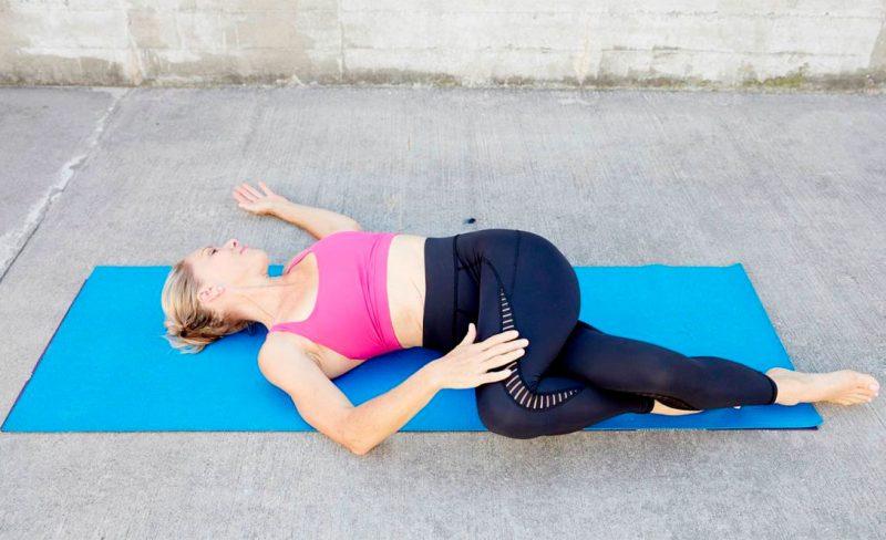 Matsyendrasana — Reclined Spinal Twist Pose