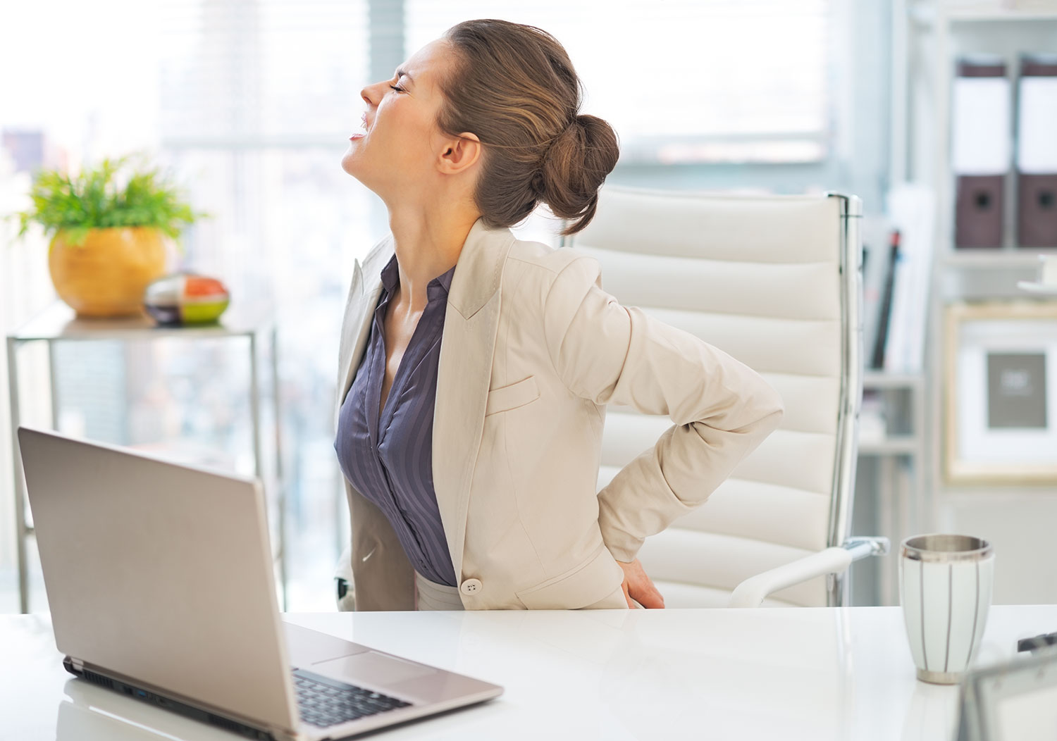 15 Minute Office Yoga for Back Pain