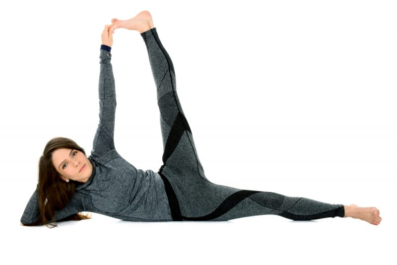 Anantasana — Side-reclining Leg Lift