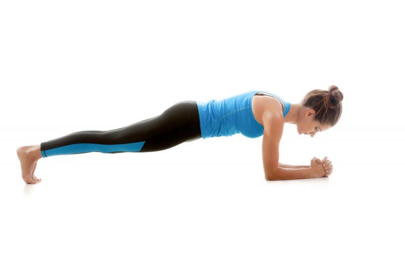Makara Adho Mukha Svanasana — Dolphin Plank Pose