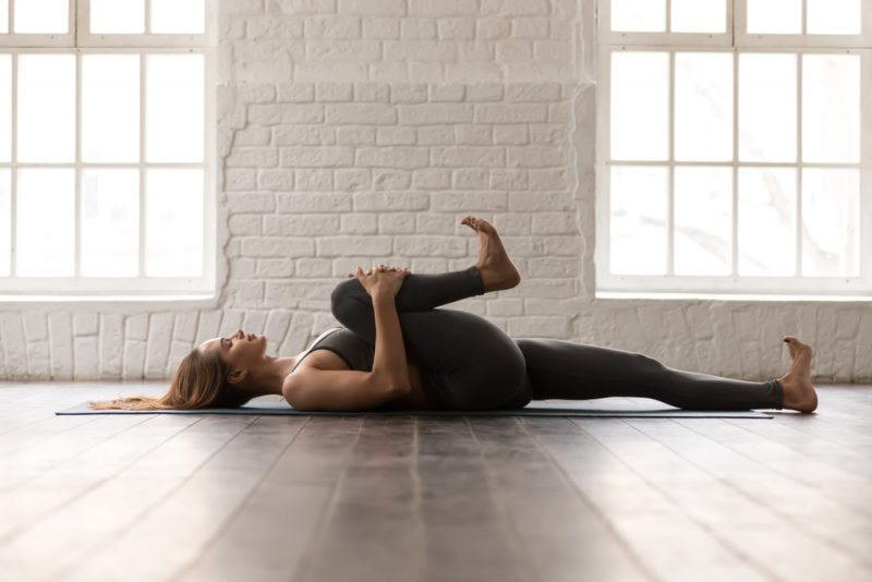Apanasana — Knees to Chest Pose and Twist