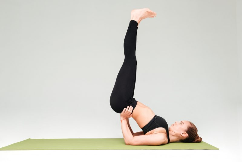 Ardha Survangasana — Half Shoulder Stand Pose