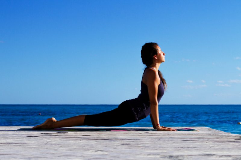 Bhujangasana — Cobra Pose or Urdhva Mukha Svanasana — Upward Facing Dog Pose