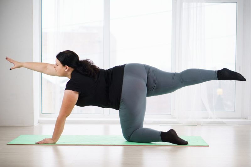 Dandayamana Bharmanasana — Balancing Table Pose