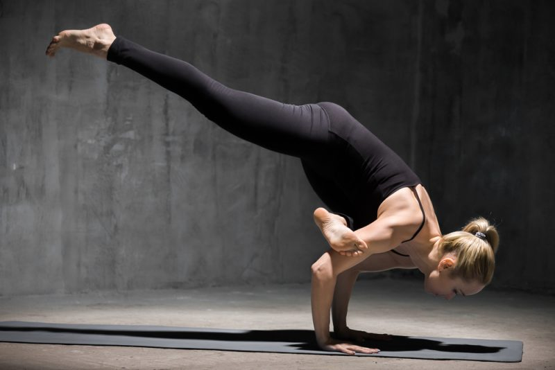 Eka Pada Galavasana — Flying Crow Pose