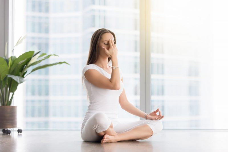 Sukhasana — Easy Seated (or variation) with Maha Yogi Pranayama