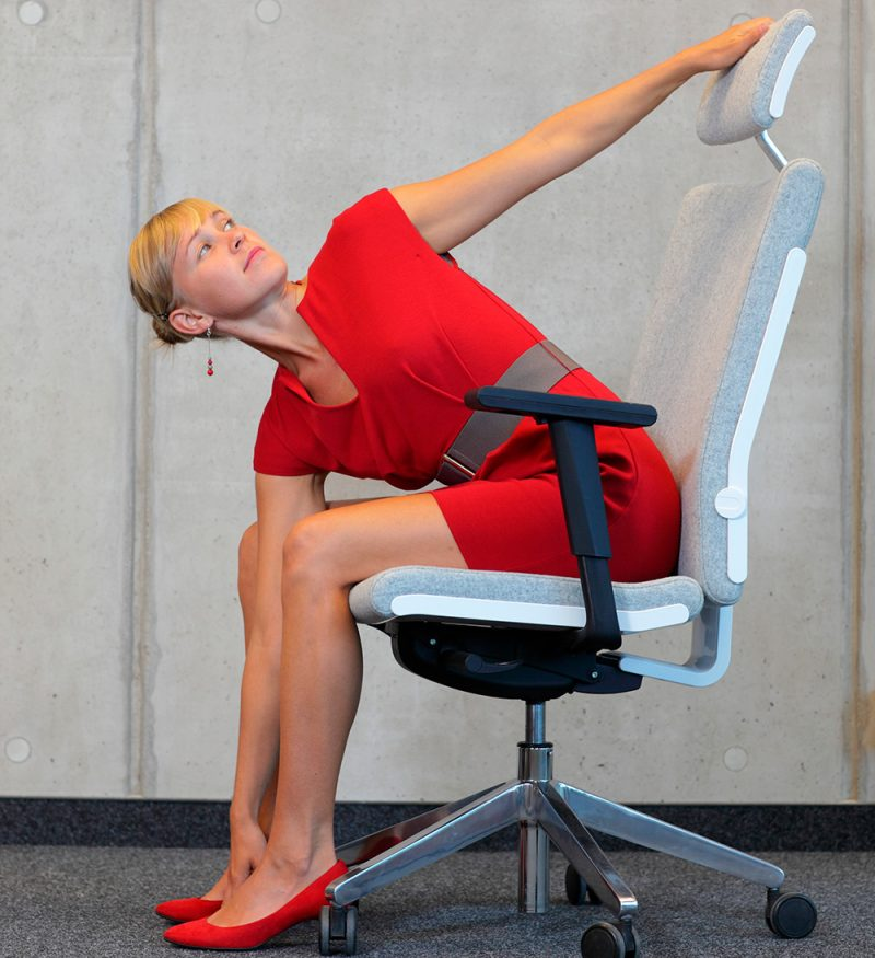 Chest Opener Using the Chair Pose