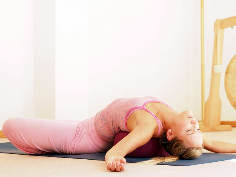 Matsyasana — Supported Fish Pose With Blocks