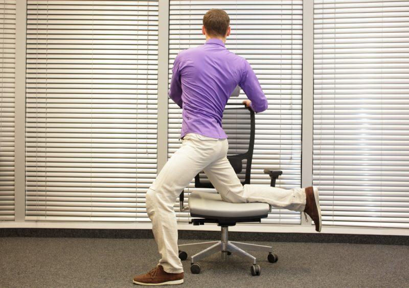 Quad Stretch Standing Lunge Pose