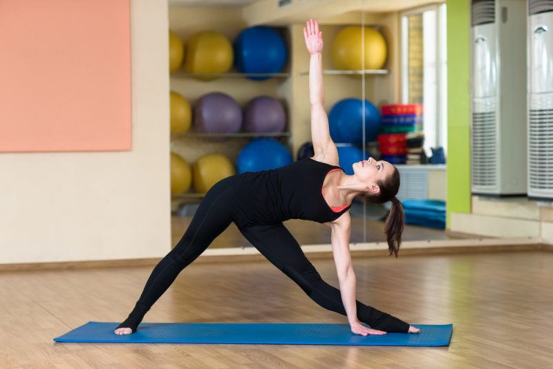 Sequence One – Mountain Pose, Warrior 1, Warrior 2, and Triangle Pose