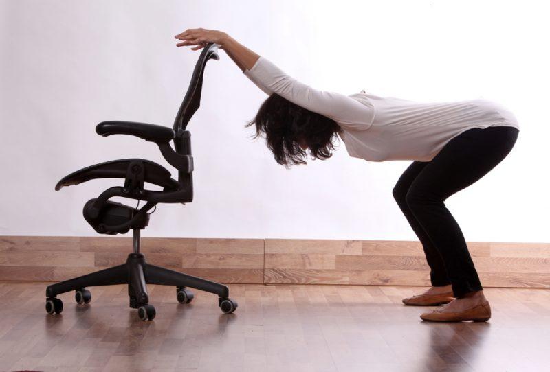Uttkatasana, or Modified Squat Pose