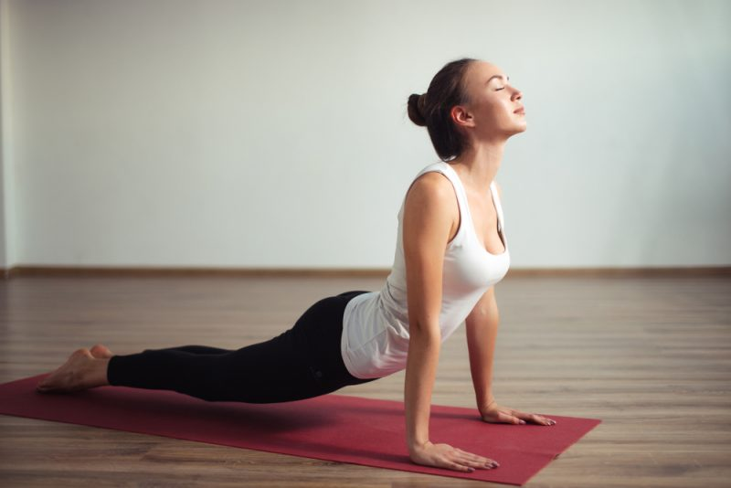 Moving through a Vinyasa