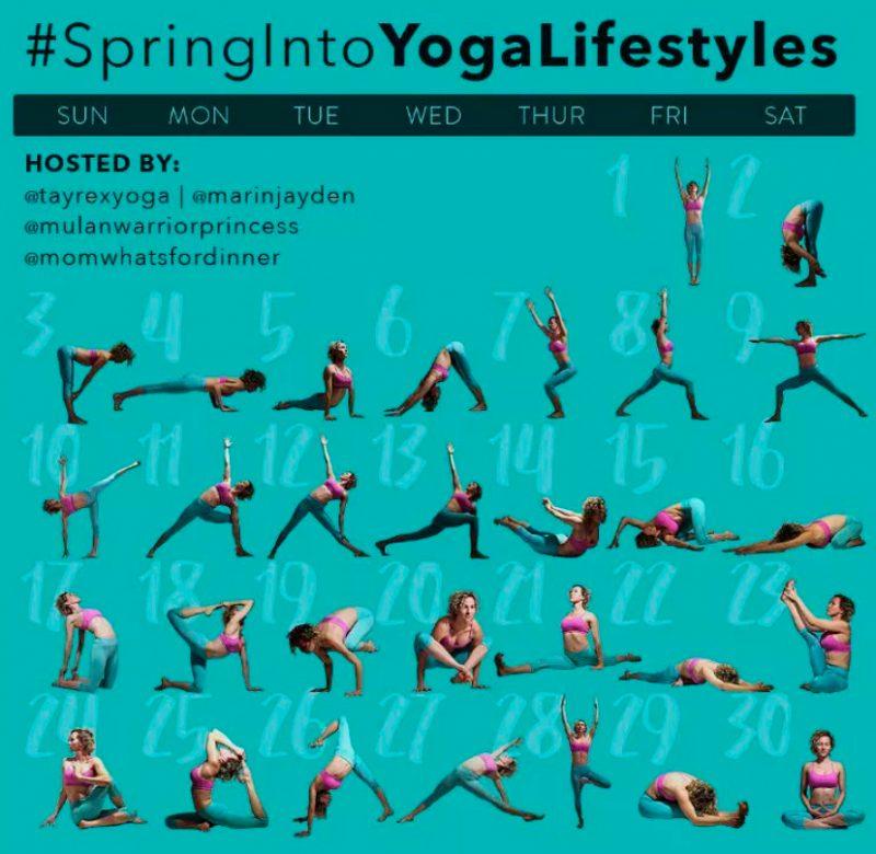 Yoga Lifestyles Spring into Yoga Online Challenge