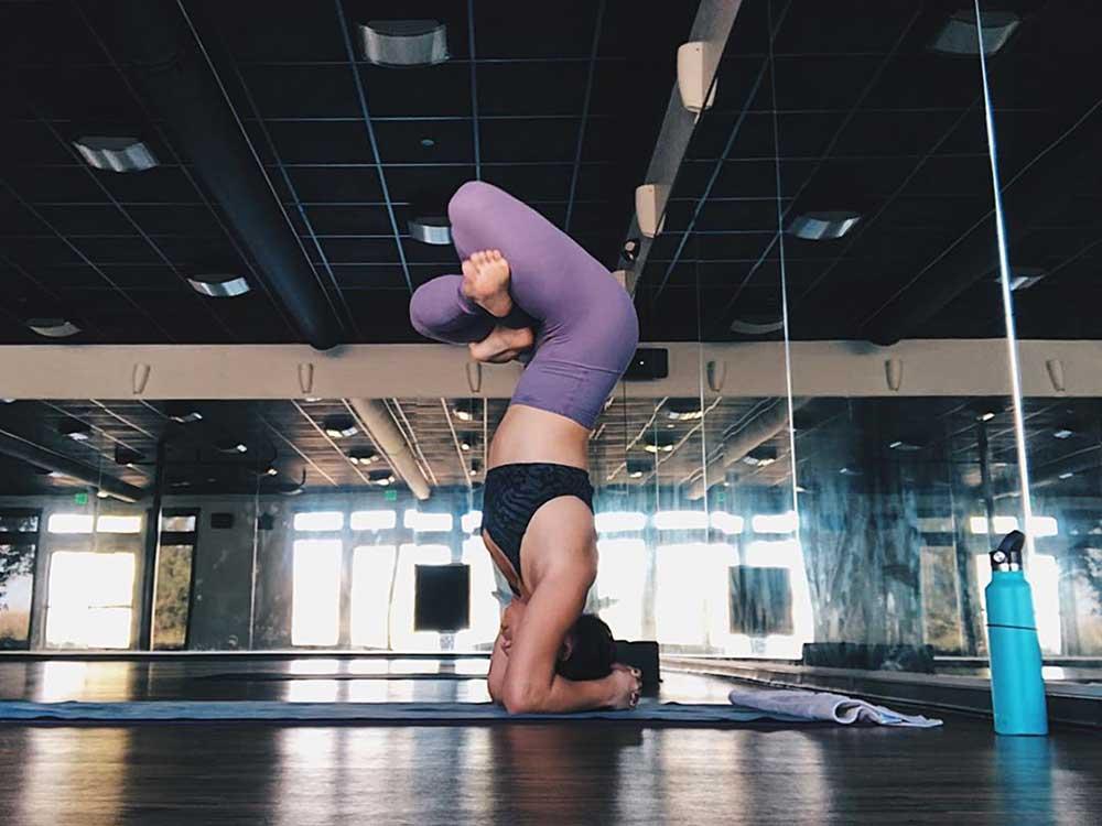 Sirsasana li Padmasana — The Tripod Headstand with Lotus Legs Pose