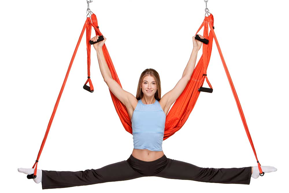 Standing and/or Supported Aerial Yoga Poses