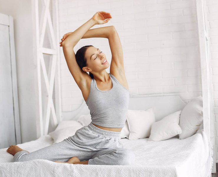 18 Poses to Do Before and After Sleep