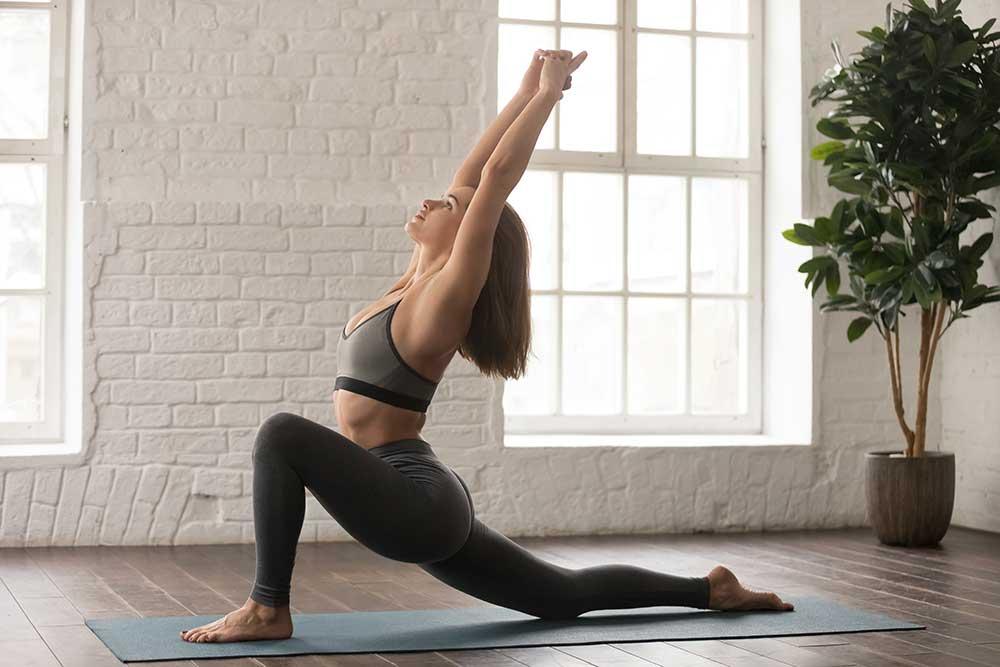 Inhale Step Back Into Anjaneyasana — Low Lunge Pose