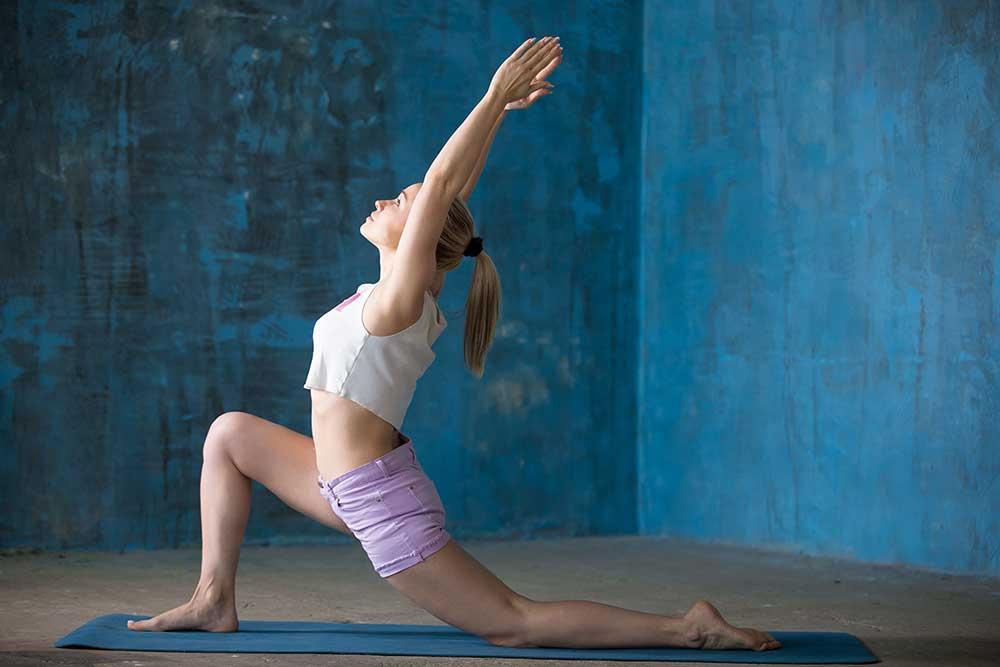 Inhale Step Forward into Anjaneyasana — Low Lunge Pose