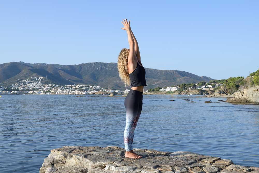 Inhale Urdhva Hastasana — Upward Salute Pose