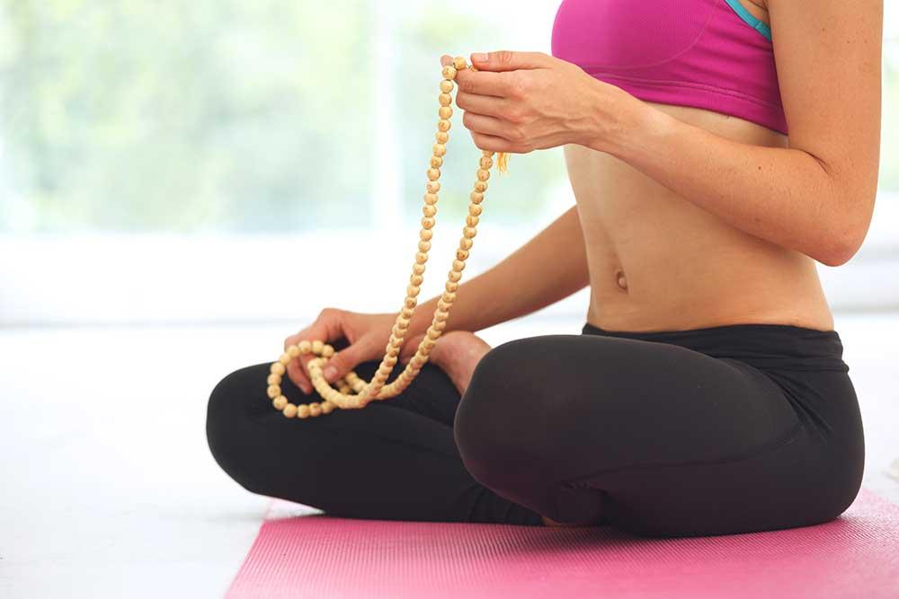 Meditation with Mala beads