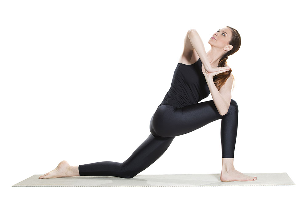 Parivrtta Anjaneyasana - Runners Lunge with a Quadriceps Stretch Pose