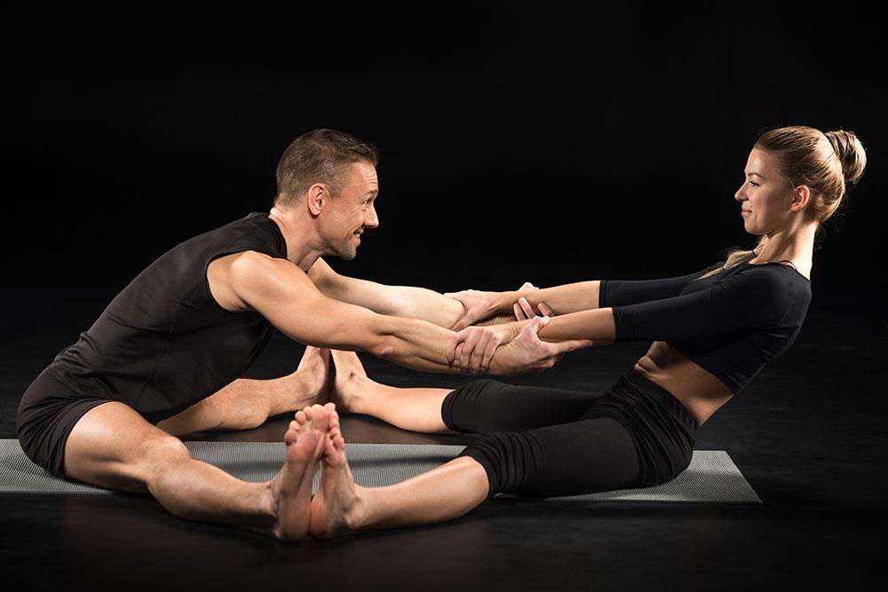 Upavistha Konasana - Seated Partner Wide-Legged Forward Fold