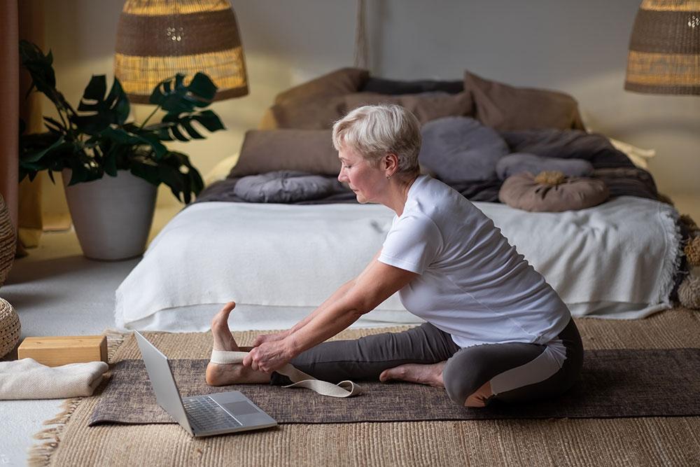 Janu Sirsasana — Single leg Forward Fold With a Strap Pose
