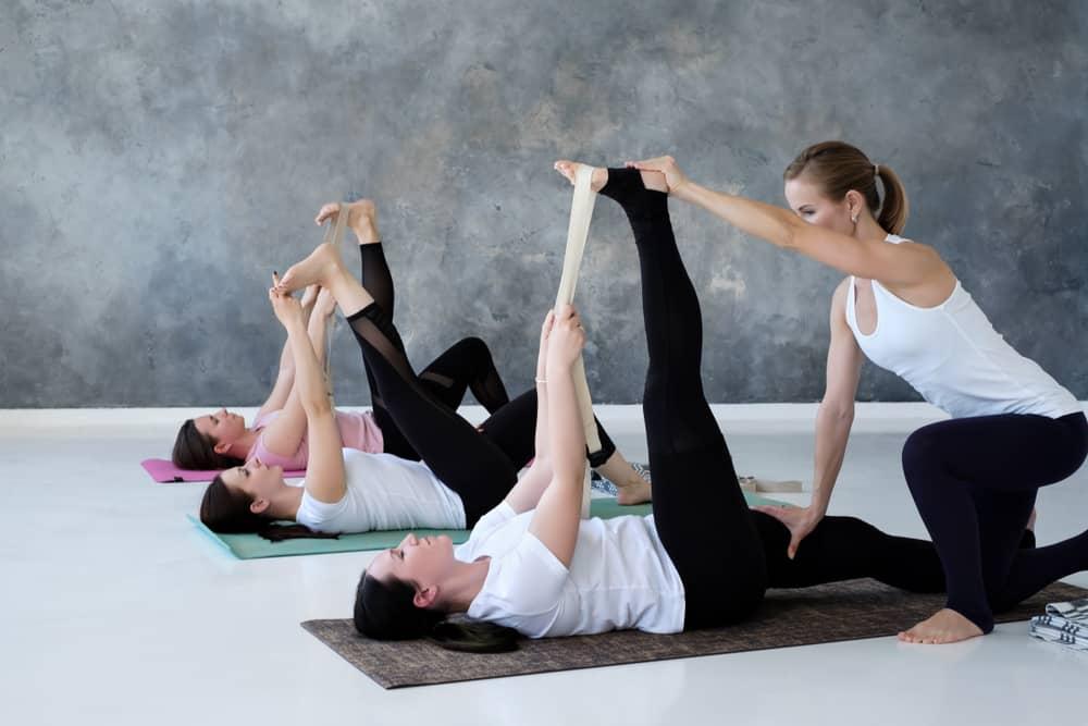 Supta Padangusthasana- Reclined Big Toe Pose With a Strap