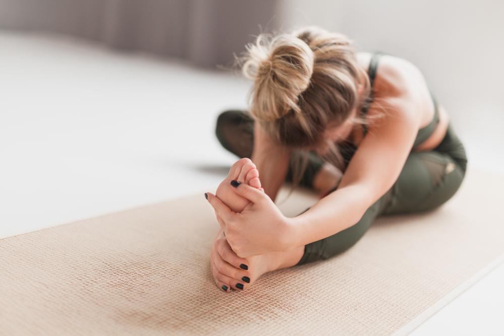 Janushirasana-Paschimottanasana - Sitting Head to Knee Stretching Pose