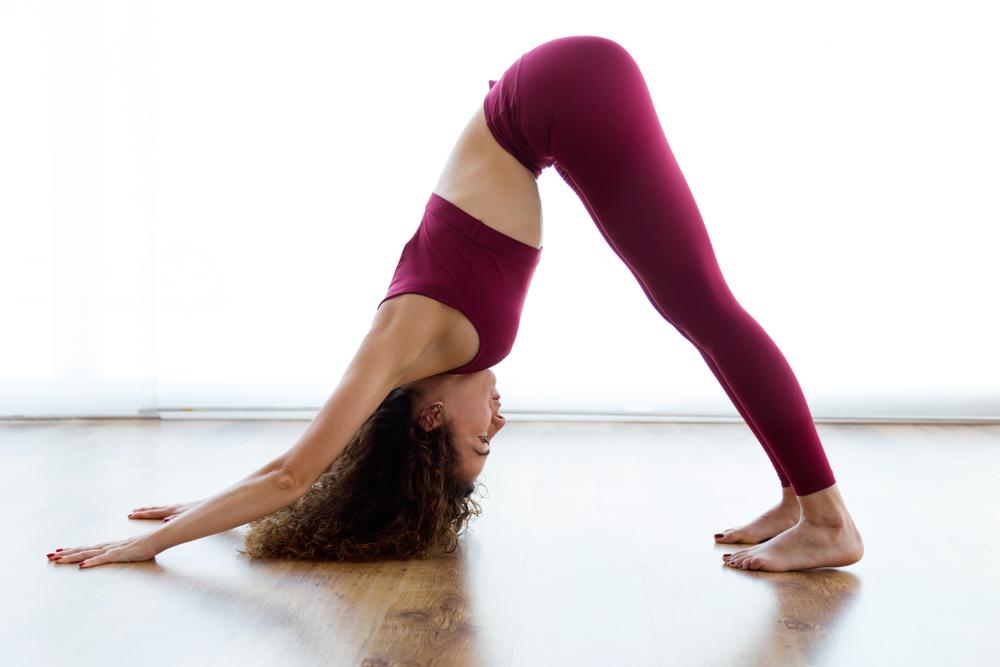 Stretching in Adho Mukha Svanasana